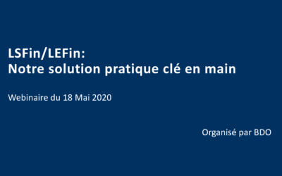 Webinar organized by BDO with the participation of Bruno Fiévet