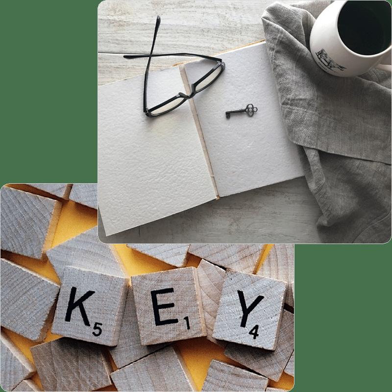 Key scrabble letters